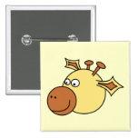 Jirafa linda feliz. Animal del dibujo animado Pins