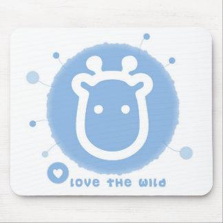 jirafa linda mouse pad