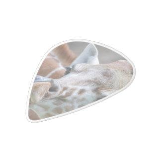 Jirafa linda plectro de delrin blanco