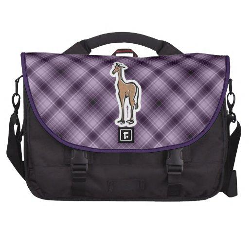 Jirafa linda; Púrpura Bolsas De Portatil