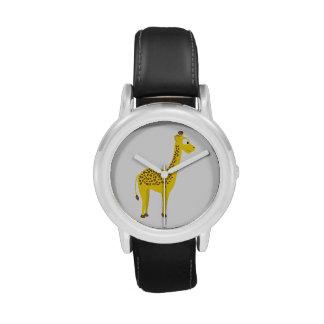 Jirafa linda relojes de pulsera