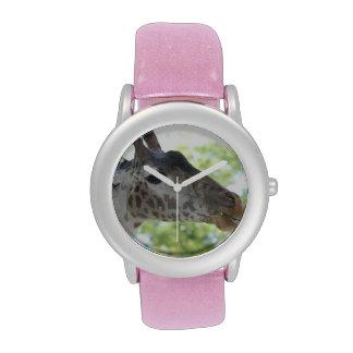 Jirafa linda relojes