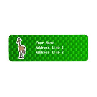 Jirafa linda; Verde Etiquetas De Remite