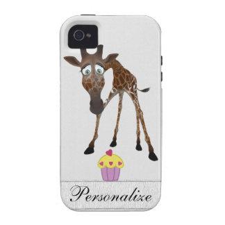 Jirafa linda y iPhone personalizado magdalena 4/4S iPhone 4/4S Carcasa