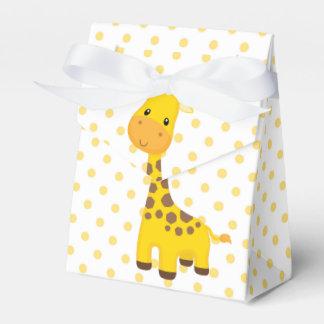 Jirafa linda y puntos amarillos cajas para regalos de boda