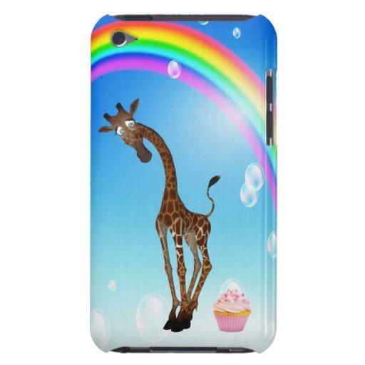 Jirafa, magdalena y arco iris lindos iPod touch Case-Mate coberturas