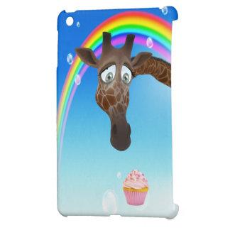 Jirafa magdalena y arco iris lindos iPad mini fundas