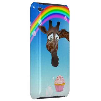 Jirafa, magdalena y arco iris lindos funda para iPod de Case-Mate
