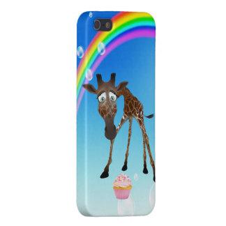 Jirafa, magdalena y arco iris lindos iPhone 5 carcasa