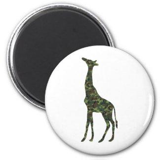 jirafa militar mimética imán redondo 5 cm