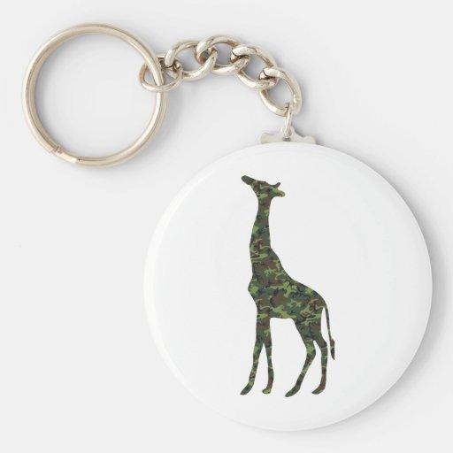 jirafa militar mimética llavero redondo tipo pin