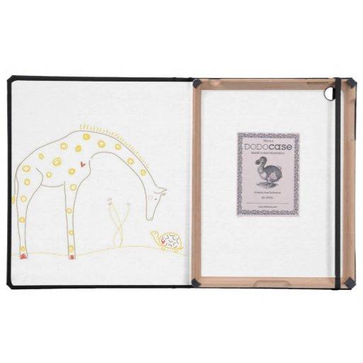 Jirafa minimalista - blanco y amarillo iPad carcasa