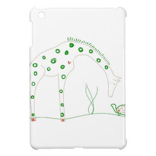 Jirafa minimalista - blanco y verde