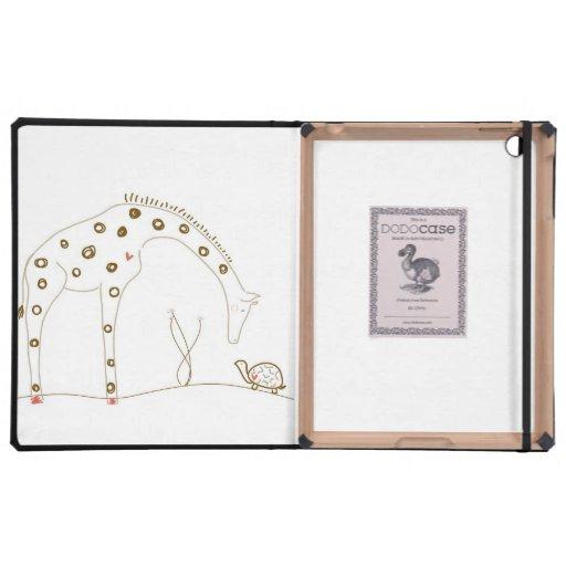Jirafa minimalista - Brown y blanco iPad Coberturas