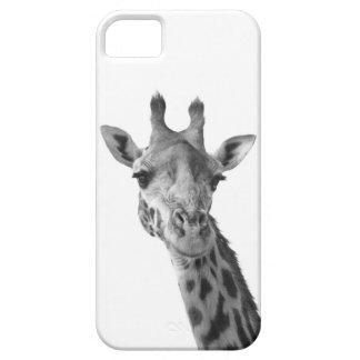 Jirafa negra y blanca iPhone 5 protector
