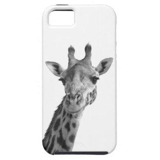 Jirafa negra y blanca iPhone 5 Case-Mate coberturas