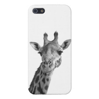 Jirafa negra y blanca iPhone 5 carcasa