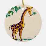 Jirafa Ornamento De Navidad