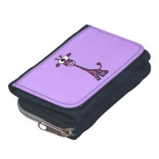Jirafa púrpura divertida