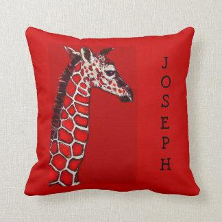 jirafa roja y negra del bebé almohadas