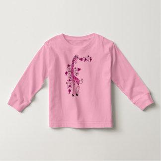 Jirafa rosada bonita poleras