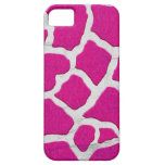 Jirafa rosada y de plata iPhone 5 Case-Mate carcasas