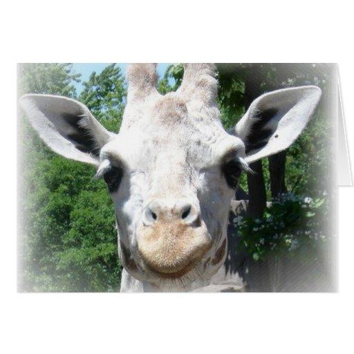 jirafa sonriente tarjeta