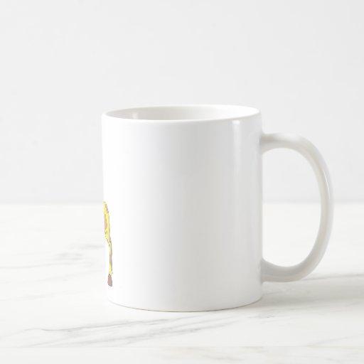 Jirafa sonriente taza