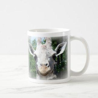 jirafa sonriente tazas de café