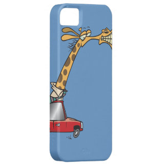 jirafa tonta divertida en un coche que conmuta iPhone 5 Case-Mate cárcasas