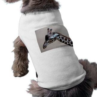 Jirafa triste playera sin mangas para perro