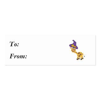 jirafa witchy de los goofkins tarjetas de visita mini