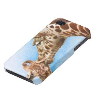 Jirafa y becerro iPhone 4/4S carcasa