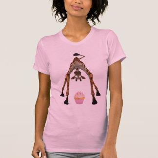 Jirafa y magdalena lindas divertidas t shirts