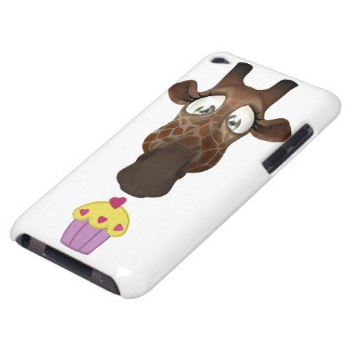 Jirafa y magdalena lindas iPod touch Case-Mate protectores