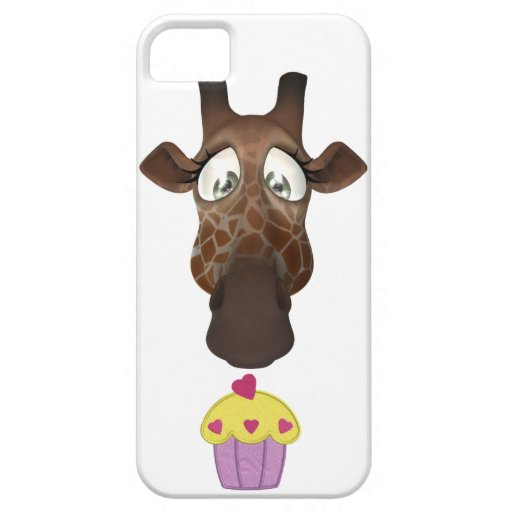Jirafa y magdalena lindas iPhone 5 Case-Mate protector