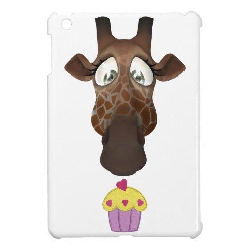 Jirafa y magdalena lindas iPad mini fundas