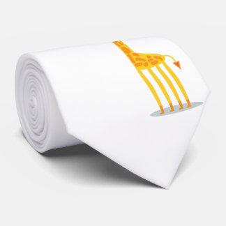 Jirafa y pájaro lindos del dibujo animado corbata
