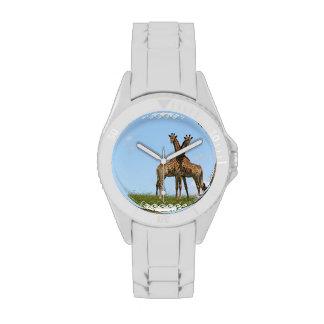 Jirafas adorables reloj