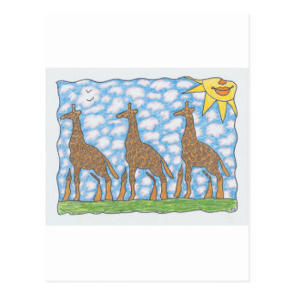 JIRAFAS de AFRIKA TRES de Ruth I. Rubin Postales