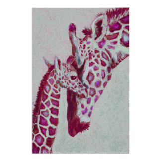 jirafas de la hierbabuena póster