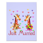 Jirafas del boda invitaciones personales