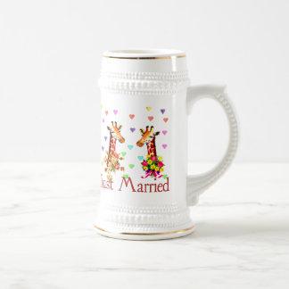 Jirafas del boda taza de café