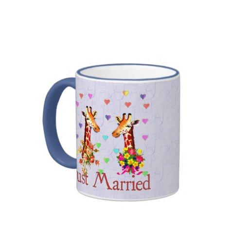 Jirafas del boda taza de dos colores