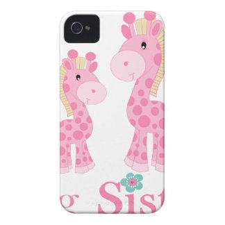 Jirafas del rosa de la hermana grande funda para iPhone 4 de Case-Mate