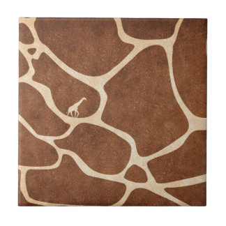 ¡Jirafas! ¡diseño exótico del estampado de animale Azulejo Cuadrado Pequeño