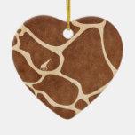 ¡Jirafas! ¡diseño exótico del estampado de animale Adornos