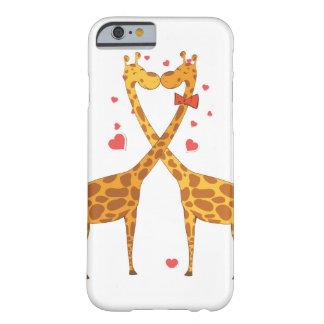 Jirafas en amor funda para iPhone 6 barely there