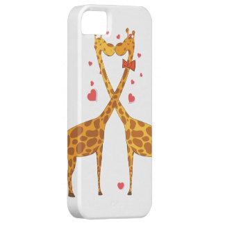 Jirafas en amor iPhone 5 fundas