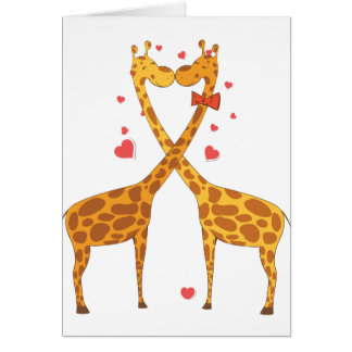 Jirafas en amor tarjetas